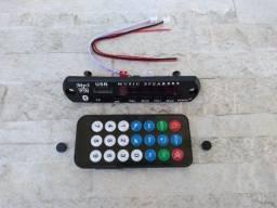 Título do anúncio: Placa Usb Mp3 Player Aux 12V Bluetooth Muda de Pasta