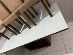 Título do anúncio: Mesa madeira maciça 6 cadeiras