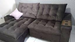 Vendo sofa pluma 2 50 Retratil e reclinavel