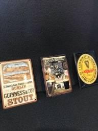 mini placas colecionáveis metálicas Guinness