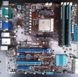 Kit Placa mãe +Processador+ 4 gigas memoria