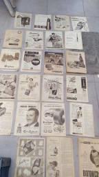 Propagandas marcas famosas jornais anos 50