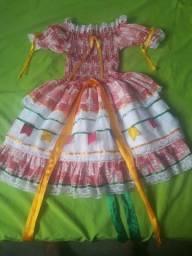 Vestido infantil até 8 aos 12 anos