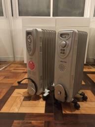 Título do anúncio: Dois aquecedores a óleo, 127v.