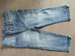 Calça jeans menino 6m a 1a