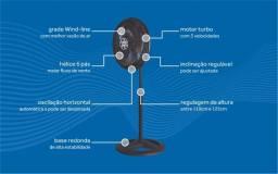 Semana do Consumidor *** Ventilador Osc Coluna Turbo 6P 50cm Bronze 127V Premium
