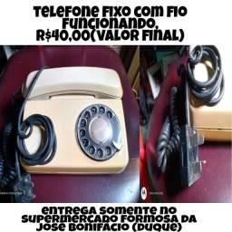 Telefone fixo com fio,funcionando,r$40,00(valor final)/eia o anúncio