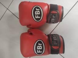 Título do anúncio: Luva de Boxe/Muay Thai + Bolsa - 16 oz