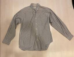 Camisa social Quadriculada Manga Longa richards -  tamanho 2 - Com Manchas