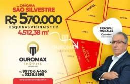 Terreno à venda, 4512 m² por R$ 580.000 - Chácaras São Silvestre - Ourinhos/SP.