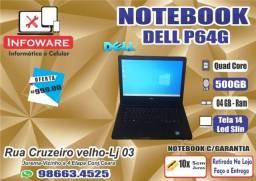 Notebook Dell P64G HD500GB/04GB Memoria/Garantia