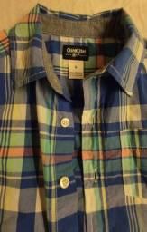 Camisa xadrez Oshkosh 6 anos