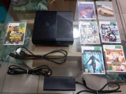 Xbox 360-E desbloqueado+7 jogos+controle sem fio