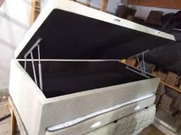 Título do anúncio: Base box baú de solteiro com auxiliar TODAS AS CORES