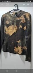 Blusa em Linho customizada tam 44
