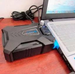 Título do anúncio: Cooler Usb Portátil Exaustor Retirar Ar Quente Notebook Cool aceita cartão