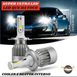 Kit Super Ultra Led 7800Lm 6000K H1 H3 H7 H8 H9 H11 H27 HB3 HB4
