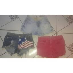 3 saias e 2 shorts por 20 reais