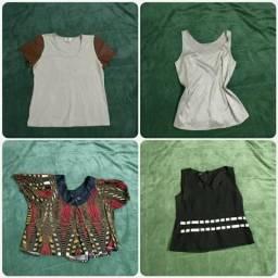 Lote de blusas novas e seminovas