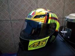 Capacete AGV-K3 soleluna Valentino Rossi