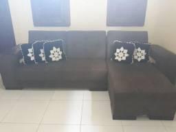 Sofá chaise marrom
