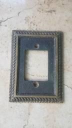 Espelho De Tomada E Interruptor De Metal Antigos Clássicos