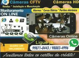 Câmeras e Cerca eletrica