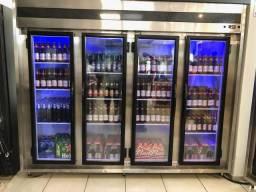 Freezer cervejeiro 4 portas expositor refrigerado