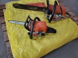 Conjunto máquinas sthil roçadeira, moto serra
