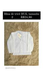 Blusa de frio baby de trico