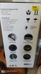 Ventilador médio com névoa regulável.