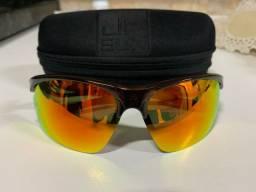 Oculos JF Sun Polarizado - Lentes Espelhadas Vermelhas