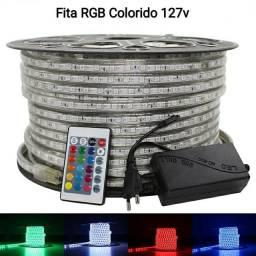 Kit 20m Fita LED RBG + Controladora