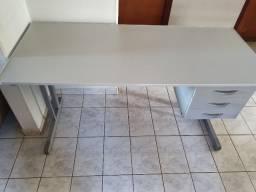 Mesa Para Escritório Com Borda ABS Com 3 Gavetas 140 x 60 cm
