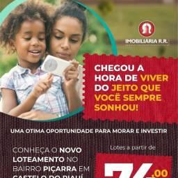 Lotes em Castelo do Piauí com preços especiais