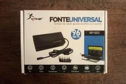 Carregador Universal - KNUP Novo, na caixa, nunca foi usado.