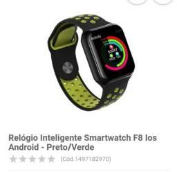 Relógio inteligente F8 smartwatch los. Semi novo usado poucas vezes