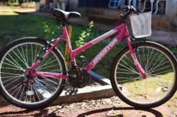 Bicicleta Rosa Houston / Aro 26 - Leia a Descrição