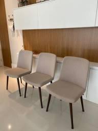 3 Cadeiras estofadas Navarro, modelo Manaus