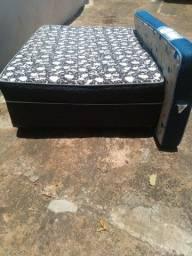 Cama Box Casal (Brinde Colchão Solteiro)
