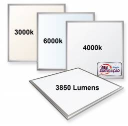 Painéis LED 625x625mm 48w Forro modular ou Gesso
