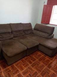 Sofá retrátil (sofá cama) em veludo