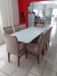 Mesa de jantar Destack de 8 lugares nova