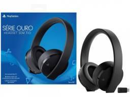 New Headset Sony Gold Mod. Novo 7.1 Sem Fio Com Microfone! Loja! Nf! Garantia! Op12x!
