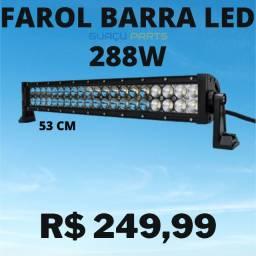 Barra Farol Auxiliar Milha Led Cree 120w Foco 30º Off Road