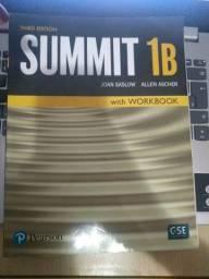 Livro de Inglês Summit 1B com workbook