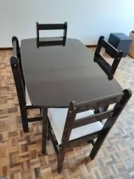 Mesa 4 cadeiras por 250.00