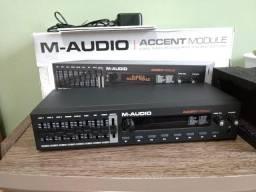 Módulo M-Audio Accent e bateria eletrônica