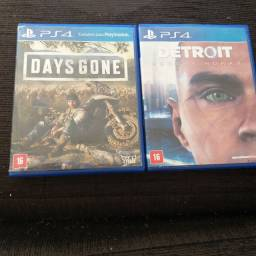 Days Gone e Detroit jogos PlayStation 4