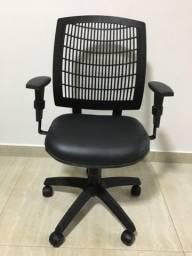 Cadeira Diretor Executiva Reclinável Preta Nova